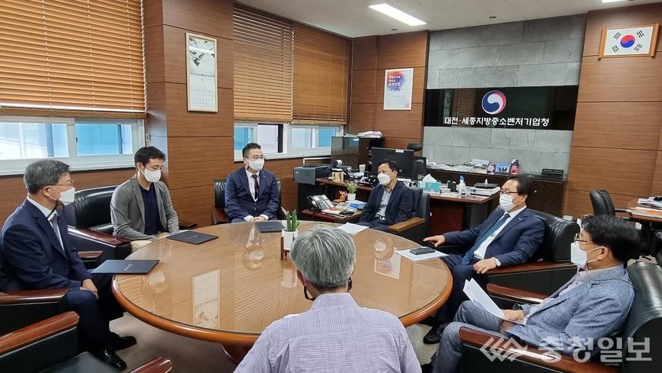 ▲ 이노비즈 인증업체 간담회 개최 모습